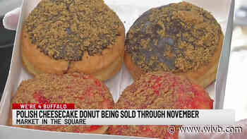 Polish cheesecake donut being sold through November at Market in the Square