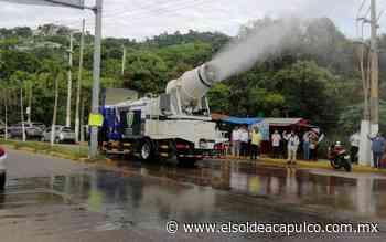 Pese a recomendaciones de la OMS, sanitizan calles en colonias de Acapulco - El Sol de Acapulco