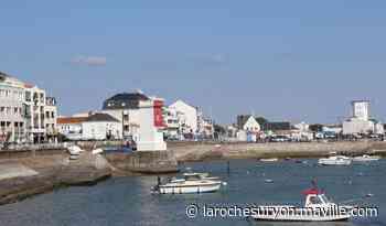 Saint-Gilles-Croix-de-Vie. Le phare du Gabio et le feu de l'Adon éclairent l'entrée du port. - maville.com