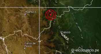 Pasco: sismo de magnitud 4,1 se reportó en Oxapampa, señala IGP - El Comercio - Perú