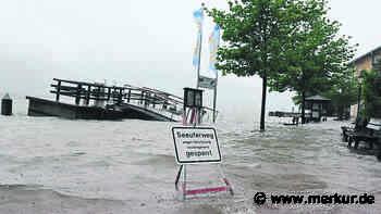 Unwetter durch Dauerregen: Hochwasser im Landkreis Miesbach möglich - Merkur.de