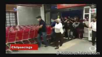 Ofertas en supermercado de Chilpancingo causan estampida de personas - Noticieros Televisa