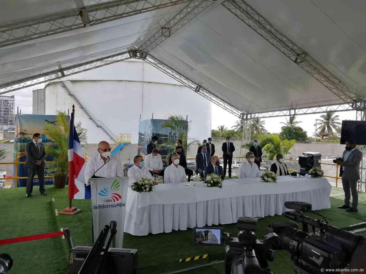 Presidente Medina inaugura tres tanques de almacenamiento en Refidomsa PDV - El Caribe
