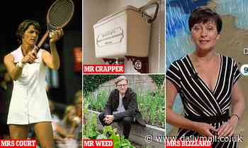 Britain's top gardener is Keith Weed! Why names linked to professions are no coincidence - Daily Mail