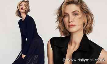 Delta Goodrem stuns in black in a photo shoot for Marie Claire