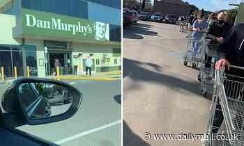 9am Dan Murphy's Melbourne Massive queues  bottle shops desperate residents  coronavirus lockdown