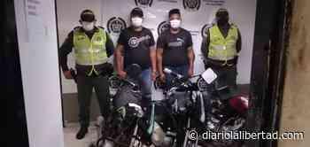 Dos capturados señalados de robo de motos en Piojó - Diario La Libertad