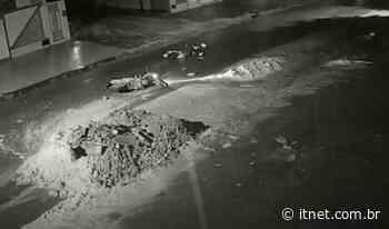 VÍDEO: três acidentes são registrados na mesma localidade, em Itabaiana, por conta de entulhos na rua - Portal Itnet