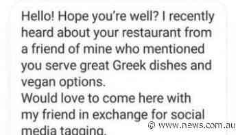 Restaurant freebie influencers won't accept