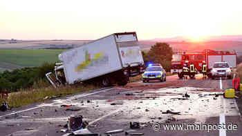 Dettelbach: Fahranfänger bei Unfall mit Lkw lebensbedrohlich verletzt - Main-Post
