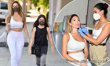 Farrah Abraham dons black lace face masks as she arrives at Botox appointment in Beverly Hills