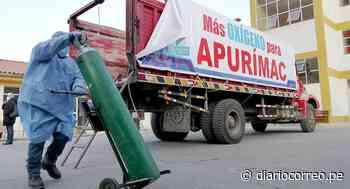 Llega a Apurímac primer lote de oxígeno donado por Cusco - Diario Correo
