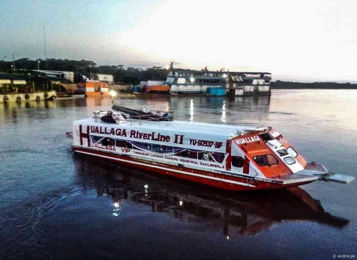 Reactivación: terminal portuario de Yurimaguas reinicia su atención a naves de pasajeros - Agencia Andina