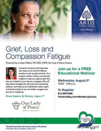 Aug 5 | Grief, Loss and Compassion Fatigue | Saint Paul, MN Patch - Patch.com
