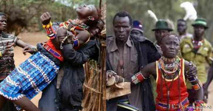 In this tribe, a man must kidnap any lady he likes for marriage and inform her father later