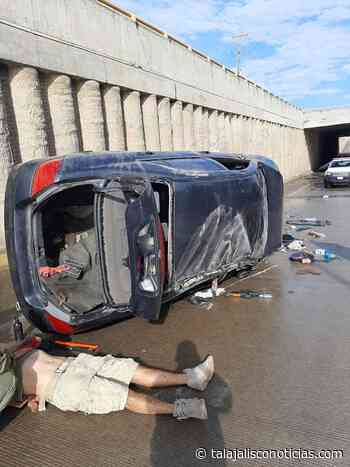 Un lesionado en aparatosa volcadura carretera a Nogales en Zapopan, Jalisco - Tala Jalisco Noticias