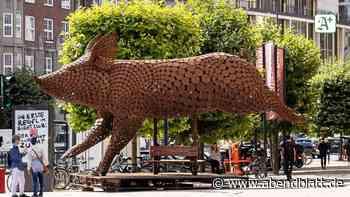 """Kunst: Schweine-Skulptur """"Ode to the Pig"""" in Hamburg zu sehen"""
