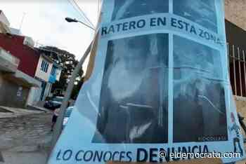 Colocan fotografías de ladrones en colonias de Xalapa - El Demócrata