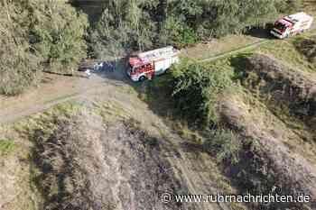 Feuerwehr-Drohne kommt bei Flächenbrand in Habinghorst zum Einsatz - Ruhr Nachrichten