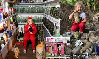 West Midlands schoolgirl is earning hundreds of pounds selling antique bottles from shed in garden - Daily Mail