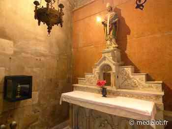 Figeac : Le reliquaire de Saint Eutrope exposé en l'abbatiale Saint-Sauveur - Medialot