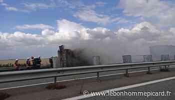 RN 31 / feu d'une benne : prudence dans le sens Clermont – Beauvais - Le Bonhomme Picard