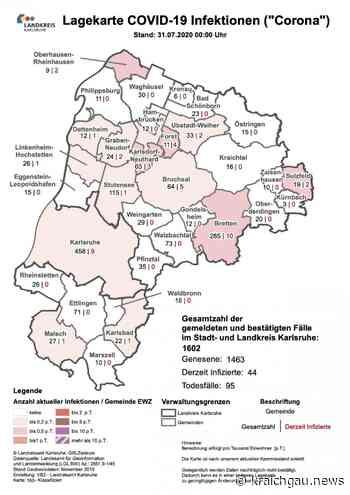 Coronavirus in der Region (Stand: 31. Juli): Coronavirus in Bretten, Kreis Karlsruhe, Rhein-Neckar- und Enzkre - kraichgau.news