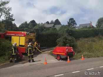 Une maison prend feu près de Dieppe - actu.fr