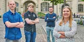 Im Rathaus Bernburg gibt es vier neue Auszubildende: Verstärkung für die Stadtverwaltung - Mitteldeutsche Zeitung