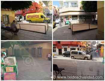Operarios municipales desmontan la terraza ilegal de la calle de Alonso Quesada - TeldeActualidad.com