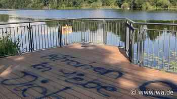 Vandalismus an der neuen Plattform am Beversee - wa.de