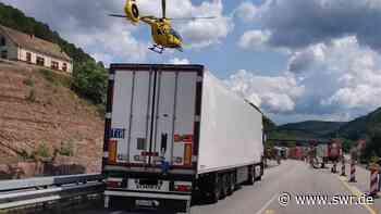 Unfall auf B10 bei Hinterweidenthal mit Lkw Sperrung | Kaiserslautern | SWR Aktuell Rheinland-Pfalz | SWR Aktuell - SWR
