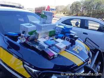 Polícia Rodoviária apreende eletrônicos e perfumes contrabandeados em Jacarezinho - Folha Extra