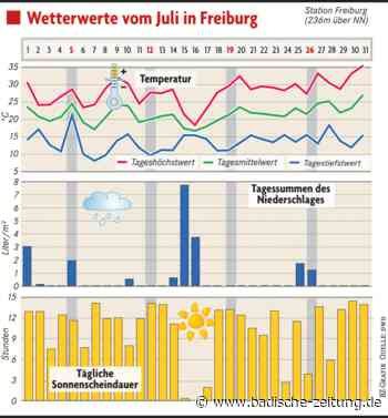 Der Juli brachte hohe Temperaturen, viel Sonne und wenig Regen - Freiburg - Badische Zeitung