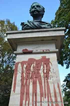 Stendal: Nach Farbattacke auf Nachtigal-Denkmal - Volksstimme