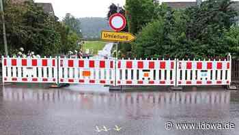 Holpriger Start: Regen kommt Arbeiten an der Wasserleitung in die Quere - idowa