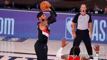Carmelo Anthony sinks dagger into Houston, Portland gets win
