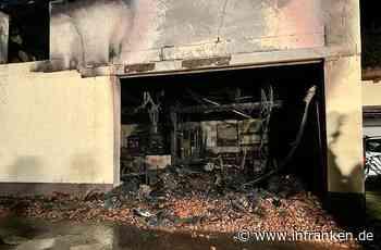 Garagenbrand in Poppenhausen: Mehrere Verletzte, ein Toter