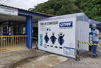 Porto de Antonina tem cabine de desinfecção para proteção contra o novo coronavírus - http://www.87news.com.br/