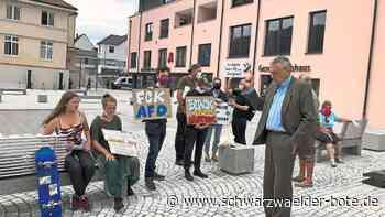 Burladingen: Polizeiaufmarsch bei AfD-Wahlkampfauftritt - Burladingen - Schwarzwälder Bote