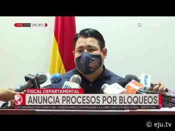 Bloqueos en Santa Cruz: Fiscalía afirma que se identificará a instigadores para poder procesarlos - eju.tv