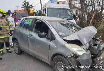 Dos personas resultaron lesionadas tras colisión de alta energía en Santa Cruz. - El Rancagüino