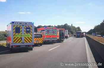 FW Grevenbroich: Schwerer Verkehrsunfall auf der A46 bei Grevenbroich / Neun Personen teils schwer verletzt - Presseportal.de