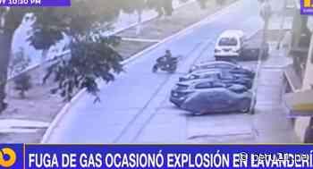 Callao: Explosión arrasa lavandería y motociclista sale expulsado por los aires en Bellavista [VIDEO] - Diario Perú21