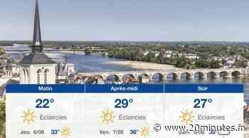 Météo Tours: Prévisions du mercredi 5 août 2020 - 20minutes.fr