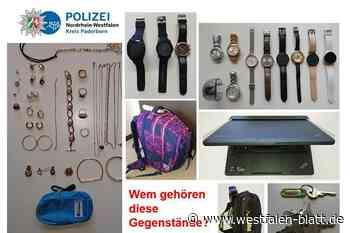 Paderborn: Polizei sucht Besitzer von Beutestücken