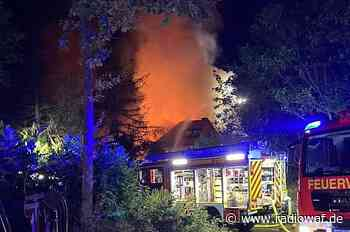 Großbrand in Wohnhaus bei Oelde-Stromberg - Radio WAF