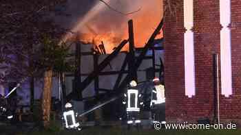 Oelde (Kreis Warendorf): Fachwerkhaus brennt in Stromberg nieder - Großbrand - Meinerzhagener Zeitung
