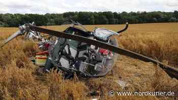 Hubschrauber bei Schwerin abgestürzt - Nordkurier