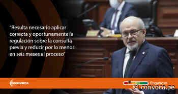 Premier Cateriano hizo afirmaciones engañosas sobre la consulta previa y canon minero al pedir voto de confianza - Convoca - Periodismo de Investigación